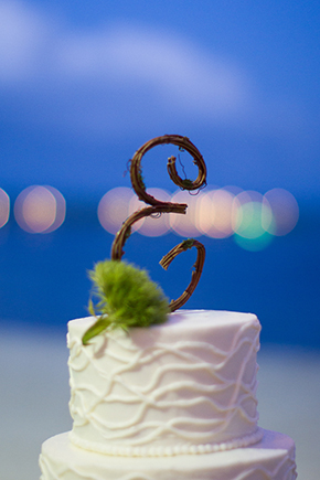 wedding cake topper A Beach Wedding in the Florida Keys