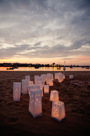 wedding lanterns A Beach Wedding in Portugal (with a baby!)