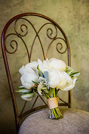 white bridal bouquet An Intimate Destination Wedding at Kenwood Inn and Spa in Sonoma
