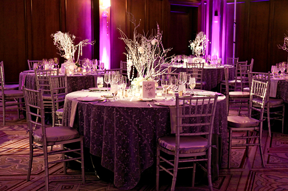 winter crystal centerpieces A Winter Wonderland Wedding in Park City, Utah