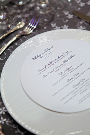 winter white wedding menus