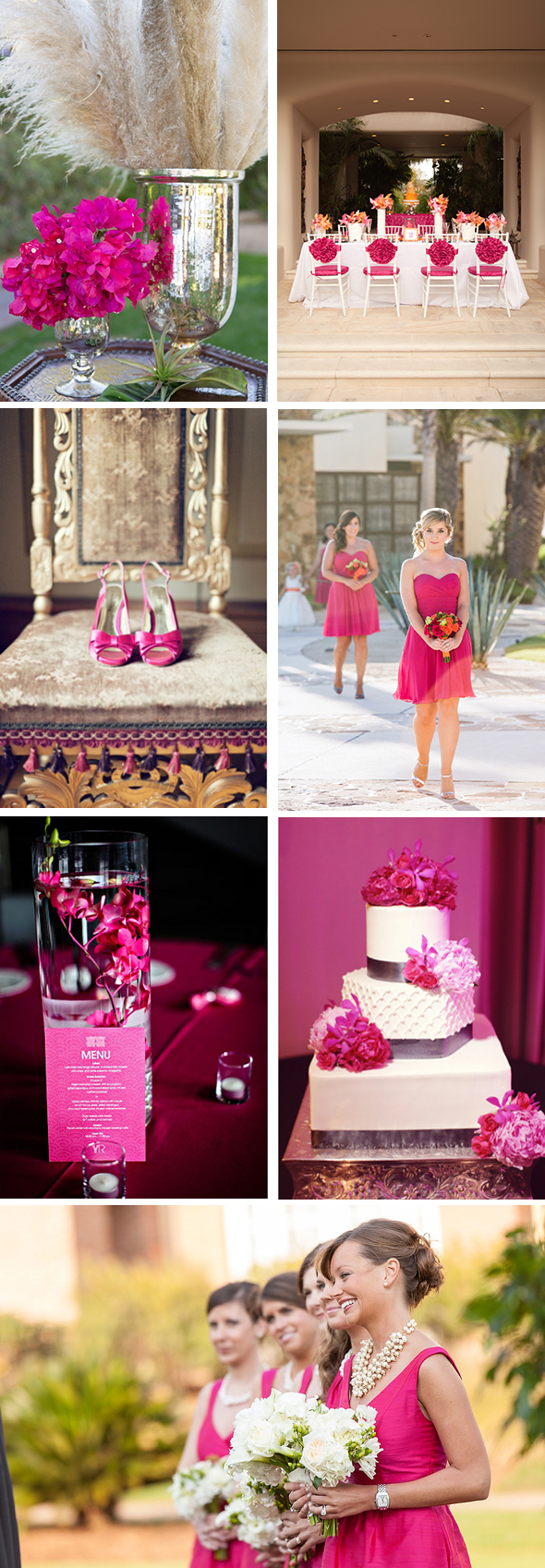 FuchiaWedding Color Palette Inspiration: Fuchsia