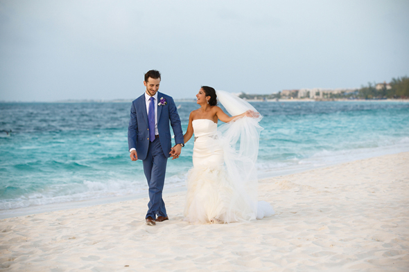 beach wedding photos A Formal Beach Wedding in Turks & Caicos