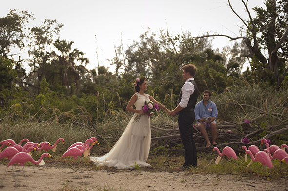 beach wedding1 Beach Elopement Styled Shoot