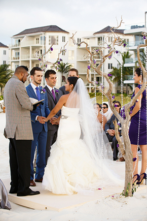 beach weddings A Formal Beach Wedding in Turks & Caicos