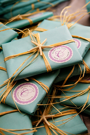 destination wedding favors A Formal Beach Wedding in Turks & Caicos
