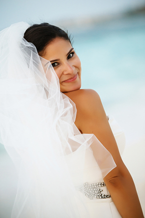destination wedding hair and makeup A Formal Beach Wedding in Turks & Caicos