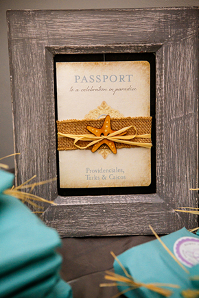 passport invitations A Formal Beach Wedding in Turks & Caicos