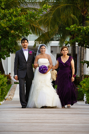 plum weddings A Formal Beach Wedding in Turks & Caicos