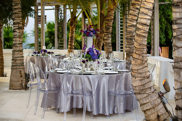 purple and silver weddings