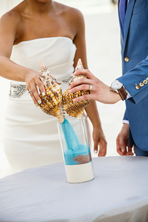 sand ceremony A Formal Beach Wedding in Turks & Caicos