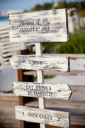 wedding signs A Formal Beach Wedding in Turks & Caicos