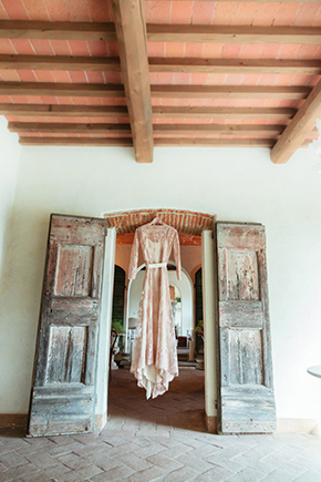 blush wedding dresses Vintage Wedding Details in Tuscany