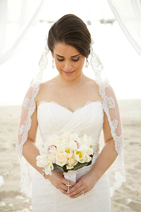 destination wedding bouquet St. John Beach Destination I Do
