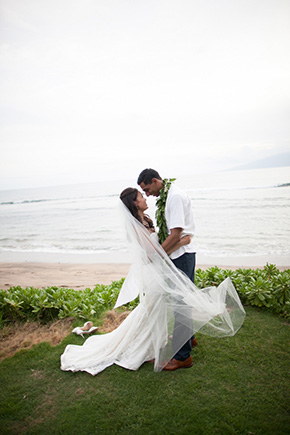 destination wedding dress1 A Vintage, Rustic Wedding with a Tropical Twist in Lahaina, Maui