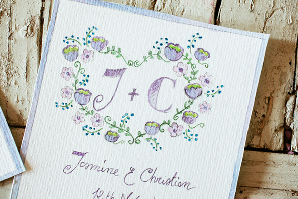 destination wedding invitation1 Vintage Wedding Details in Tuscany