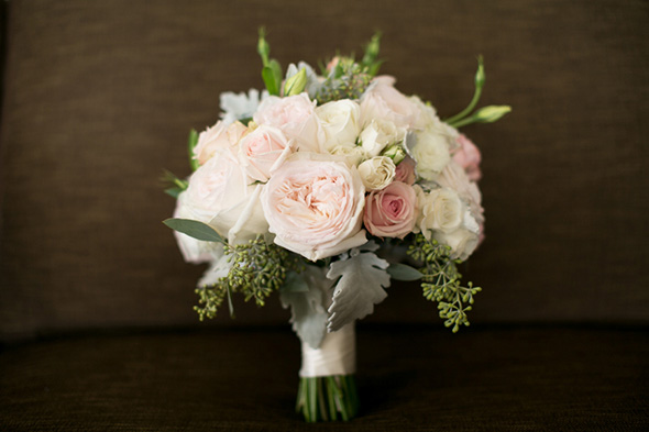 pale pink bridal bouquet A Vintage, Rustic Wedding with a Tropical Twist in Lahaina, Maui