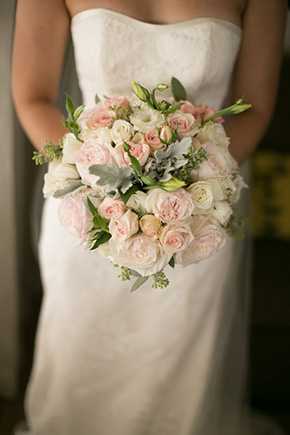 pale pink bridal bouquets A Vintage, Rustic Wedding with a Tropical Twist in Lahaina, Maui