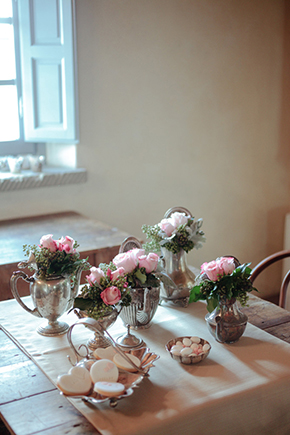pink weddings Vintage Wedding Details in Tuscany