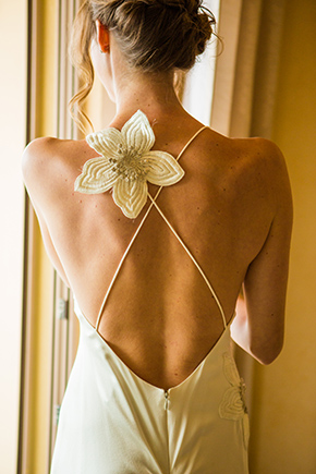 backless wedding dress A Cheerful Beachside Wedding in Puerto Vallarta, Mexico