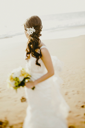 beach wedding hair A Sweet Fairmont Kea Lani Maui Destination Wedding