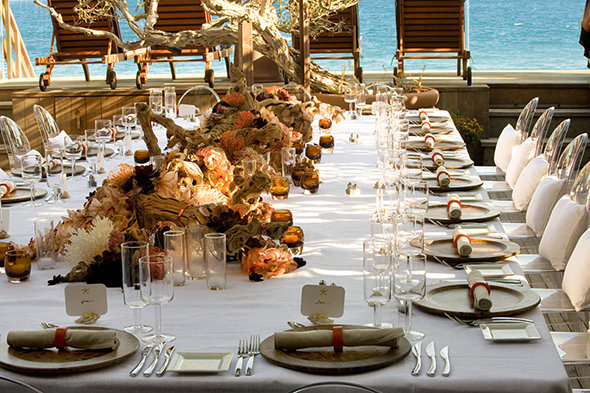 destination wedding centerpiece Perfect Table Design for A Beach Wedding