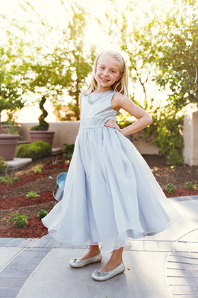 flower girl dress An Off the Strip Las Vegas Wedding