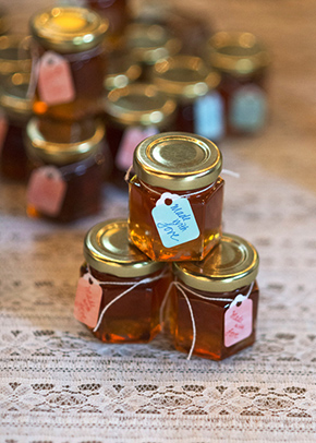 honey wedding favors A Rustic Outdoor I Do in High Falls, New York