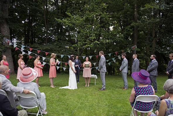 outdoor wedding A Rustic Outdoor I Do in High Falls, New York