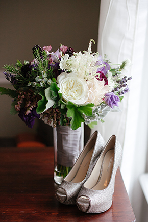 purple bridal bouquet1 Saint Augustine, Florida Destination I Do