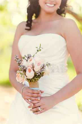 rustic bridal bouquet An Off the Strip Las Vegas Wedding