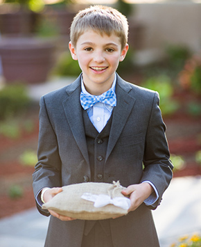 rustic ring bearer