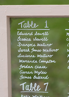 rustic table numbers A Rustic Outdoor I Do in High Falls, New York