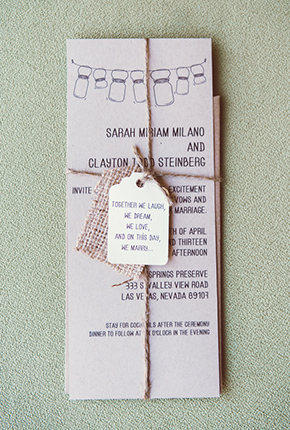 rustic wedding invitations An Off the Strip Las Vegas Wedding