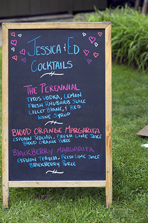 wedding cocktails A Rustic Outdoor I Do in High Falls, New York