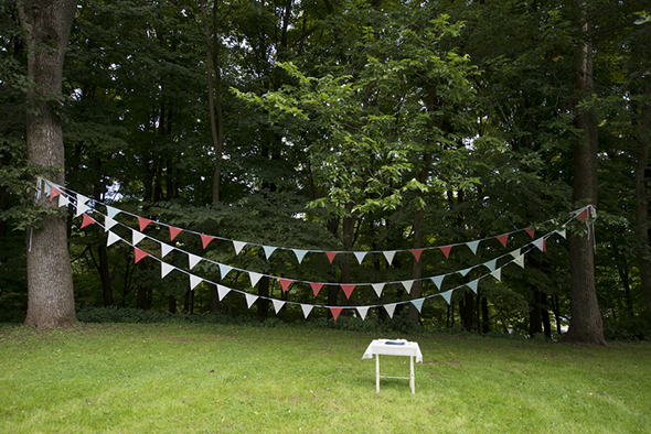 wedding flags A Rustic Outdoor I Do in High Falls, New York