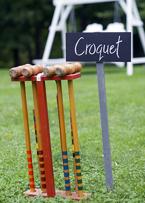 wedding games A Rustic Outdoor I Do in High Falls, New York