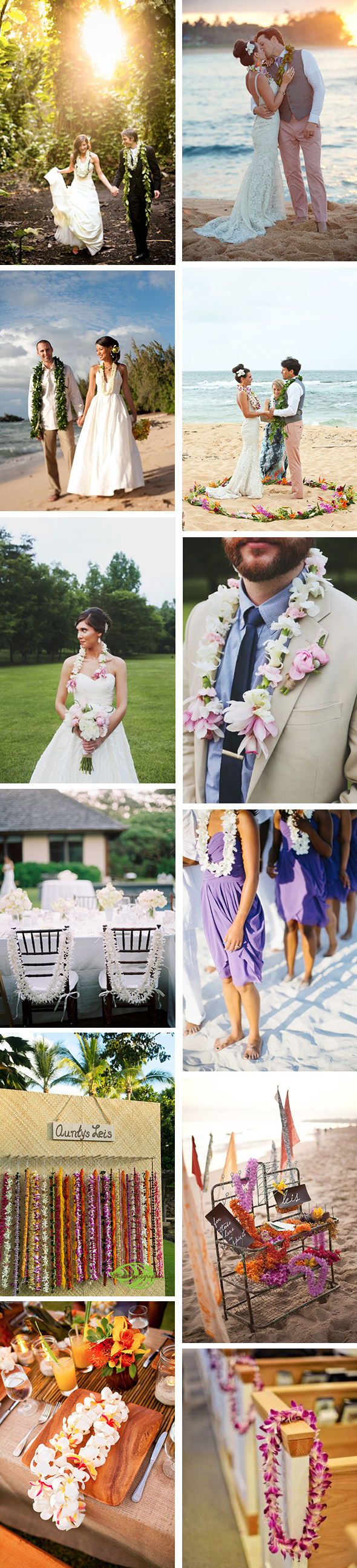wedding lei ideas Ways to Weave in Wedding Leis