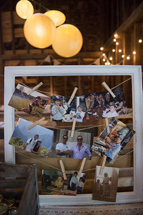 wedding photo wall A Rustic Outdoor I Do in High Falls, New York