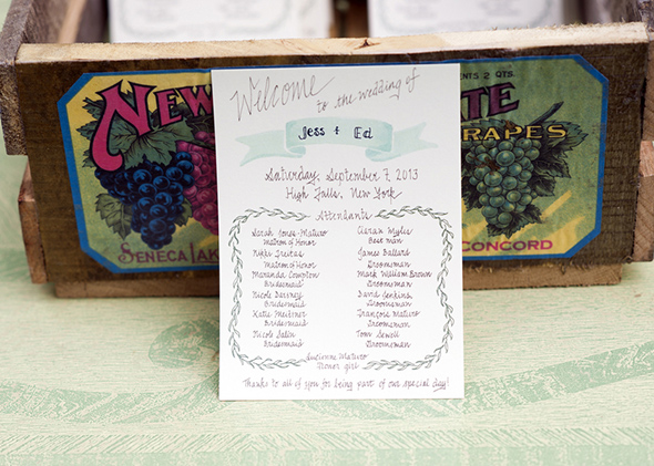 wedding program A Rustic Outdoor I Do in High Falls, New York