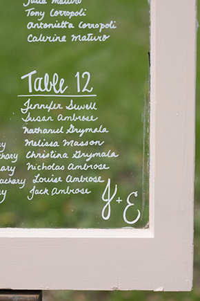 window table numbers