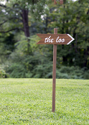 wooden wedding signs A Rustic Outdoor I Do in High Falls, New York