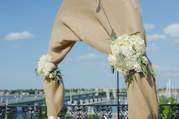 burlap wedding idea A Burlap Inspired Destination Wedding in Florida