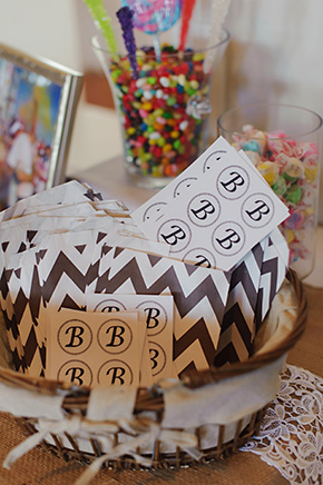 candy station A Burlap Inspired Destination Wedding in Florida
