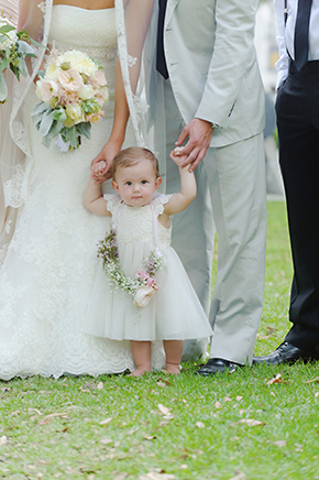 flower girl ideas A Burlap Inspired Destination Wedding in Florida