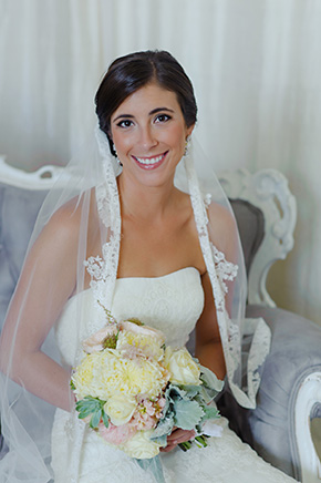 mantilla veils A Burlap Inspired Destination Wedding in Florida