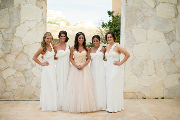 Pretty In Pink A Beach Wedding In Cabo With A Pink Wedding Dress - Blush Beach Wedding Dress