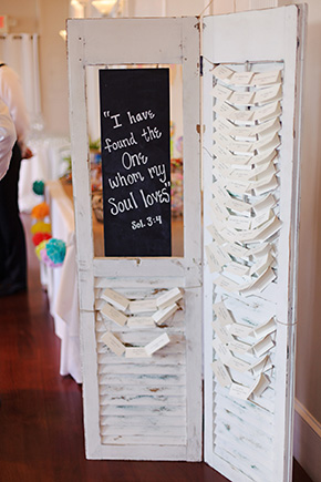 place card display ideas A Burlap Inspired Destination Wedding in Florida