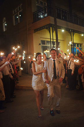 sparkler sendoff A Burlap Inspired Destination Wedding in Florida
