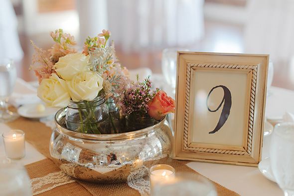 table number ideas A Burlap Inspired Destination Wedding in Florida